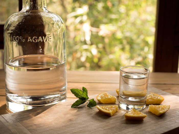 Mezcal is a distilled alcoholic beverage made from any type of agave plant native to Mexico.; Shutterstock ID 1041556648; Job (TFH, TOH, RD, BNB, CWM, CM): TOH