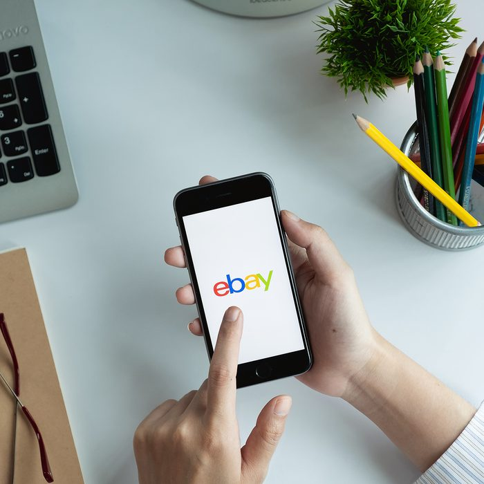 CHIANG MAI, THAILAND - JUN 15, 2018: Close up of ebay app on a Apple iPhone 6 screen. ebay is one of the largest online auction and shopping websites.; Shutterstock ID 1122995201; Job (TFH, TOH, RD, BNB, CWM, CM): Taste of Home