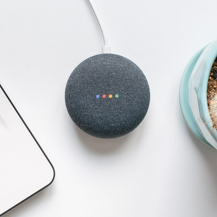 Athens, Greece - October 19 2018: Google home mini smart speaker with built in Google Assistant; Shutterstock ID 1211476570; Job (TFH, TOH, RD, BNB, CWM, CM): Taste of Home
