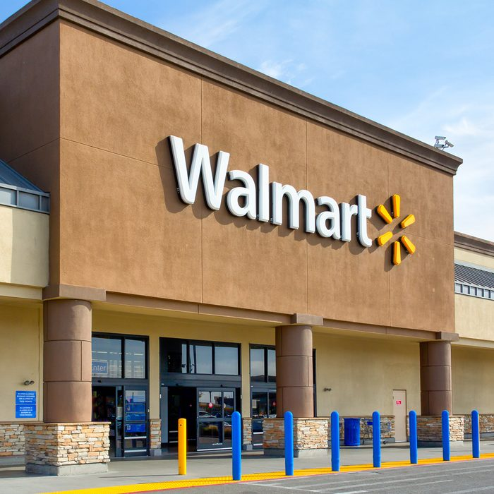 SALINAS, CA/USA - APRIL 8, 2014: Walmart store exterior. Walmart is an American multinational corporation that runs large discount stores and is the world's largest public corporation.; Shutterstock ID 186861932