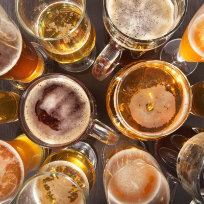 Many different beer glasses with beer from all over the world; Shutterstock ID 411234307; Job (TFH, TOH, RD, BNB, CWM, CM): Taste of Home