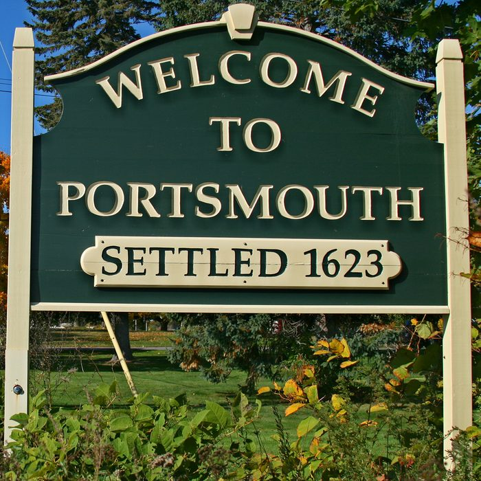 Welcome to Portsmouth New Hampshire Sign
