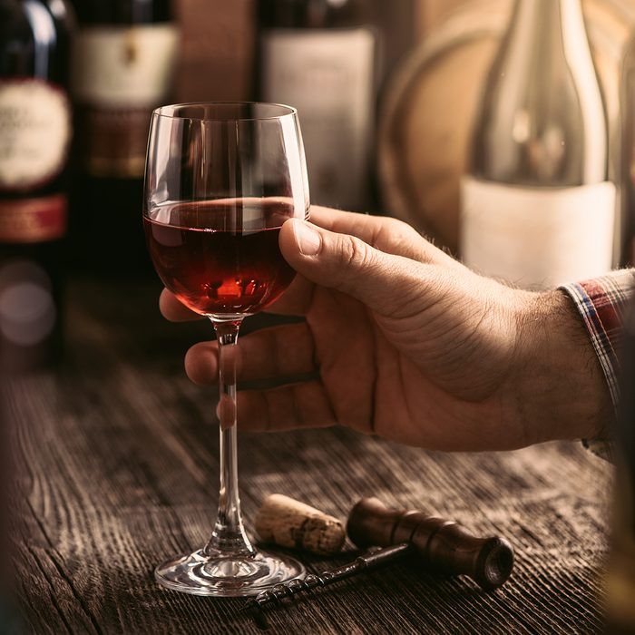 Wine tasting experience in the rustic cellar and wine bar