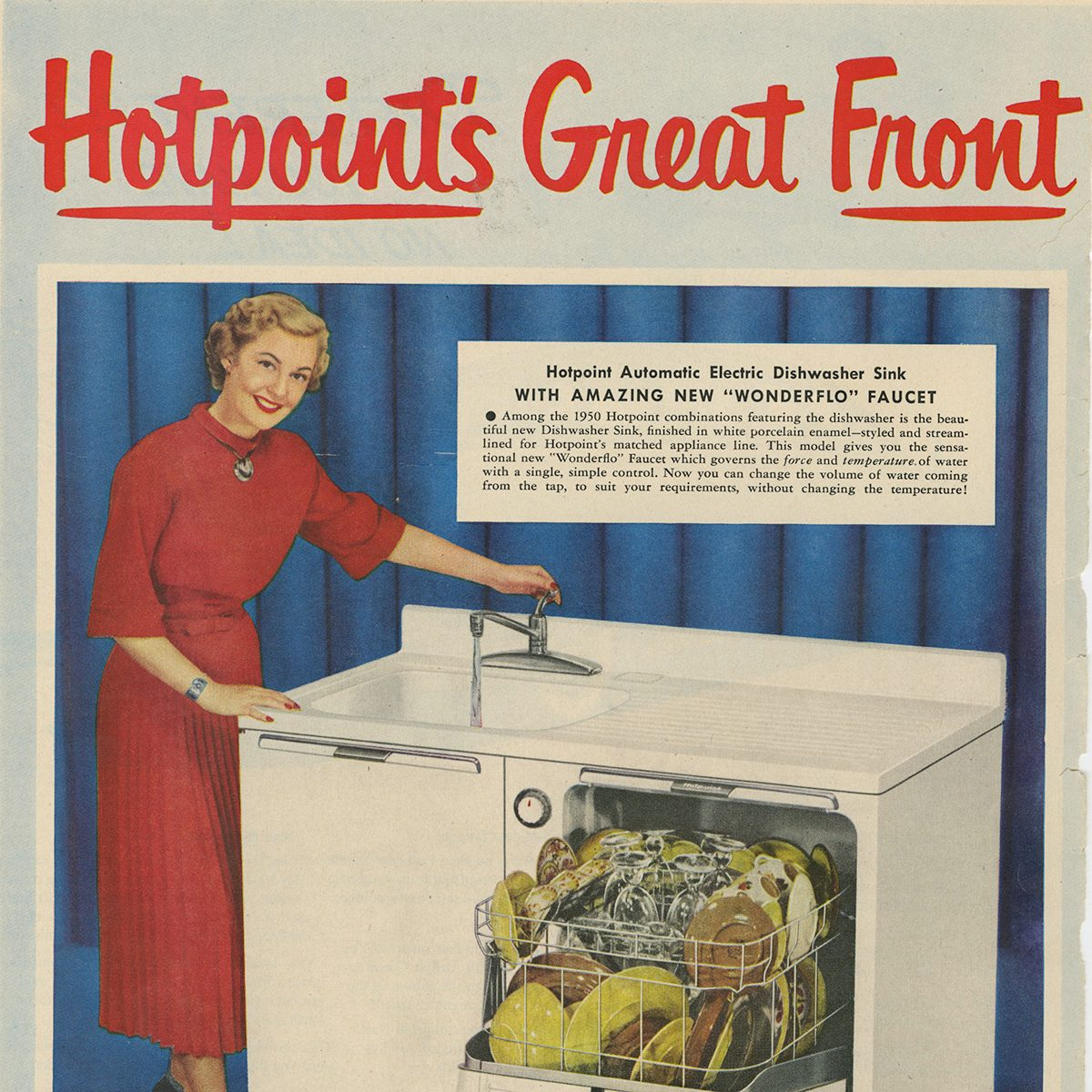 Hotpoint Dishwasher Sink ad