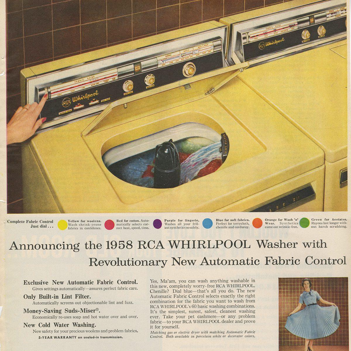 RCA Whirlpool Washer ad