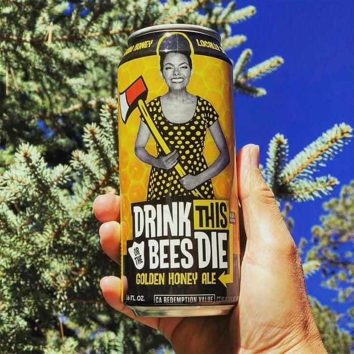 duck foot brewing, beer, drink this or bees will die