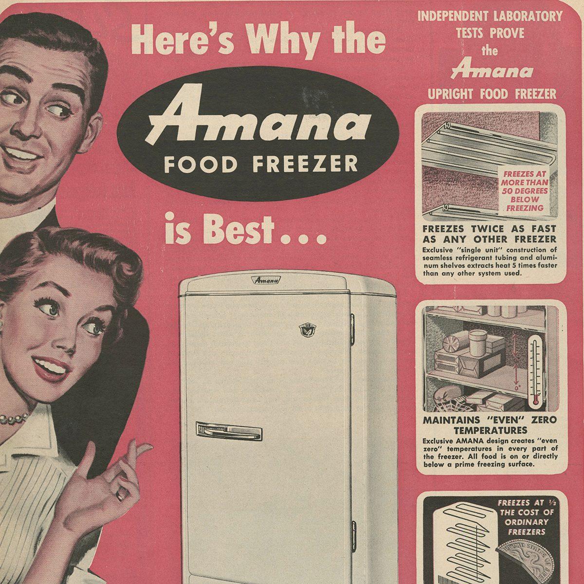 Amana Food Freezer ad