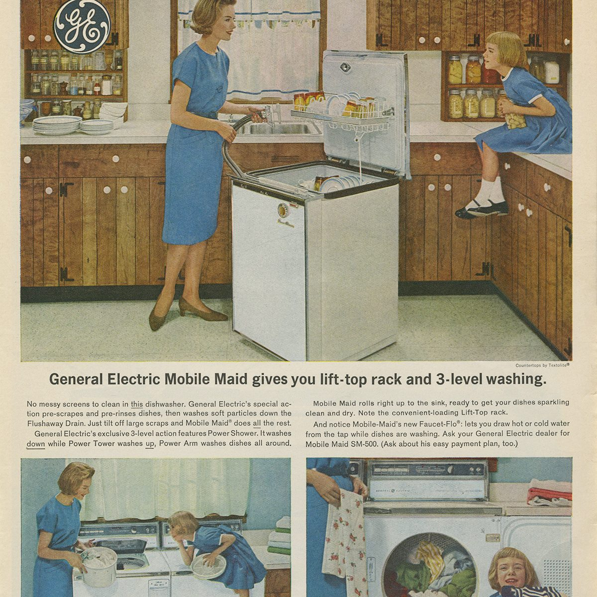 General Electric Mobile Maid Dishwasher