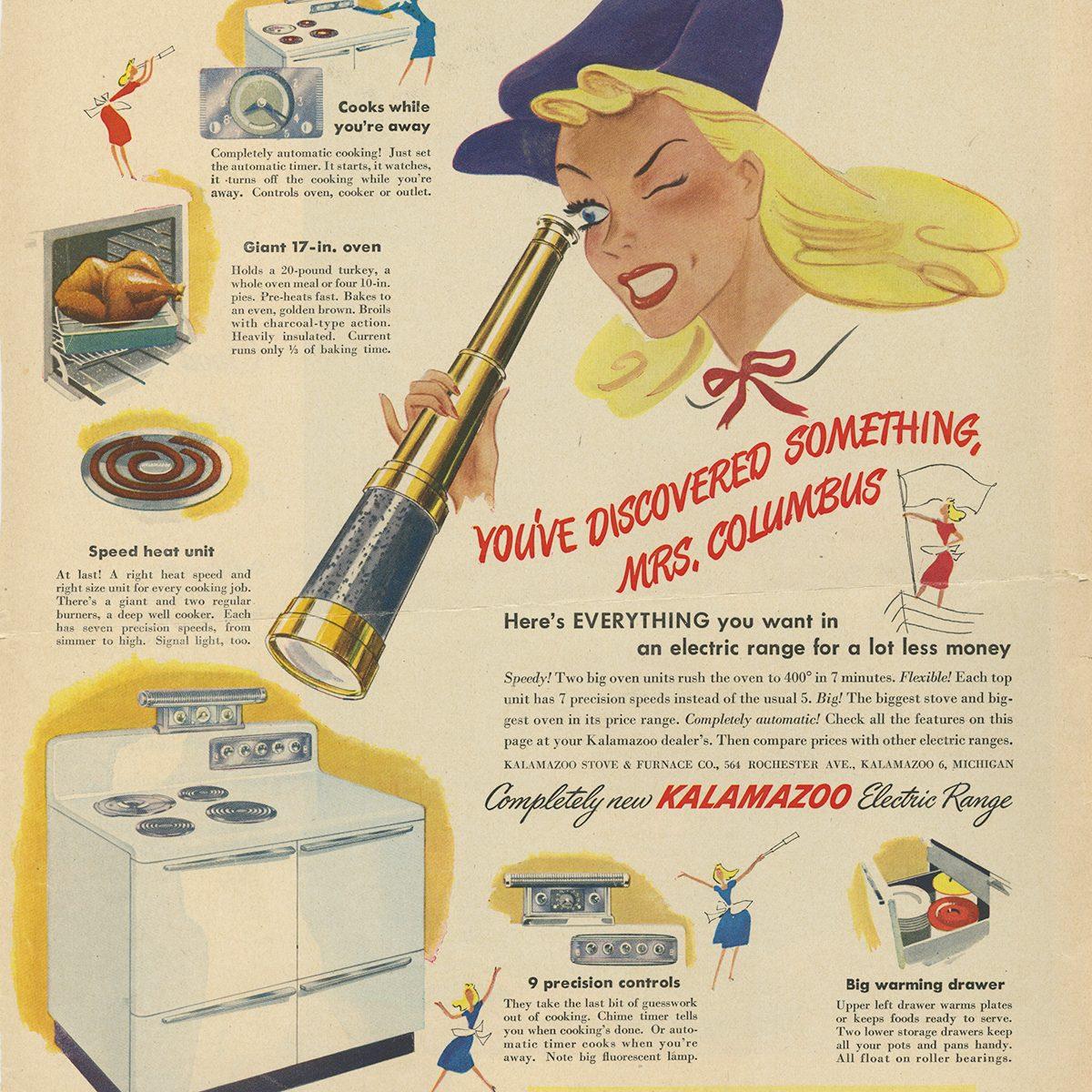 Kalamazoo Electric Range ad