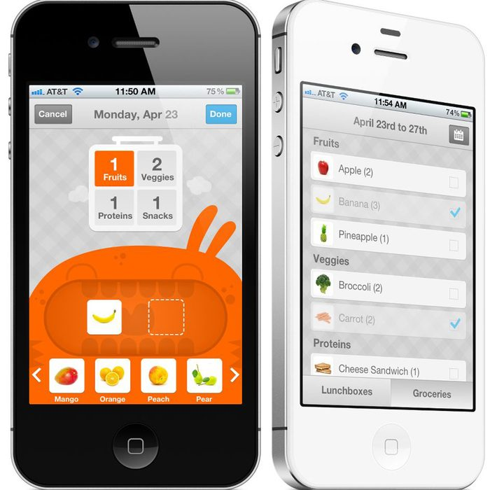 lala lunchbox, meal planning app