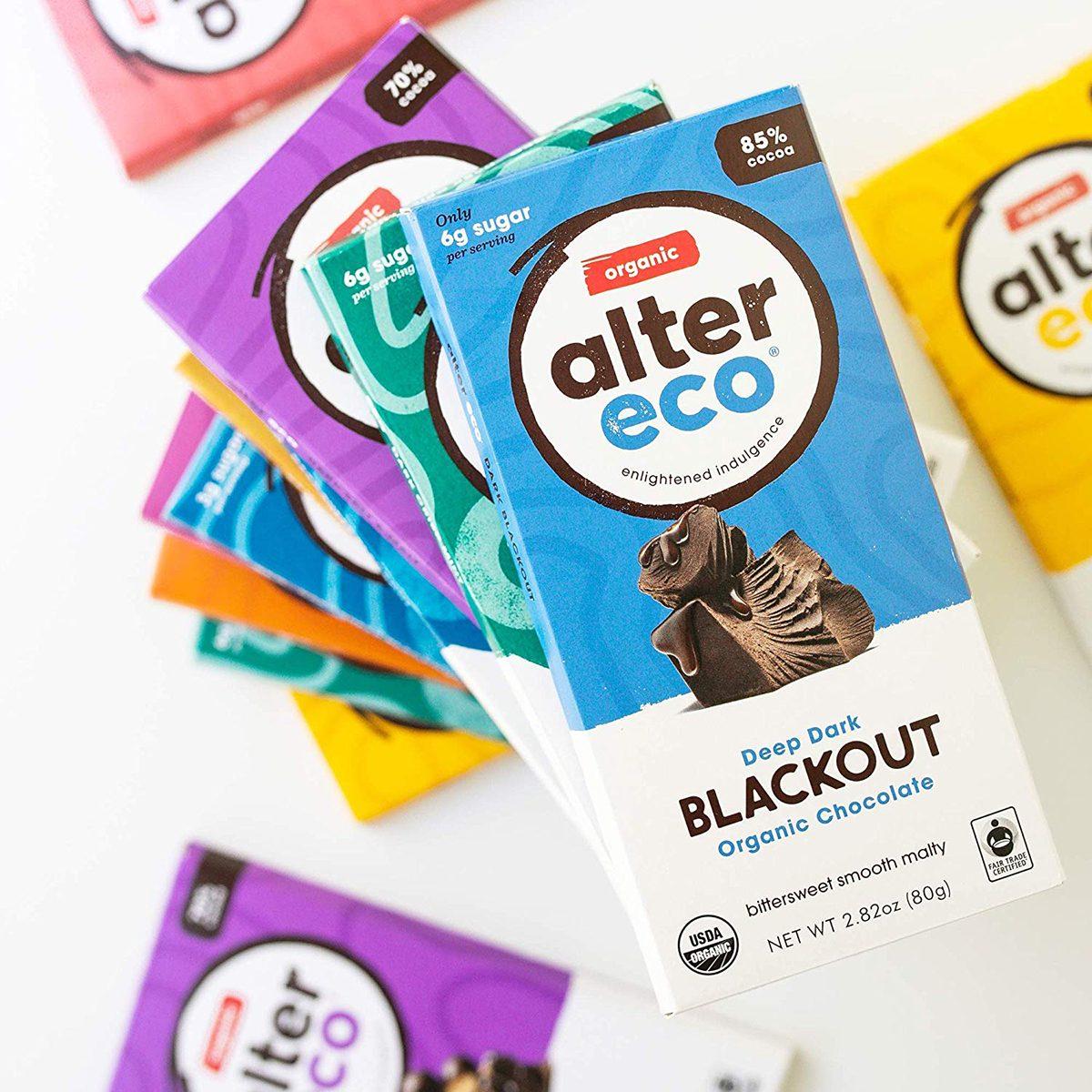Alter Eco | Dark Blackout | 85% Pure Dark Cocoa, Fair Trade, Organic, Non-GMO, Gluten Free Dark Chocolate Bar, Single Bar