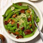 Bacon and Garlic Sugar Snap Peas