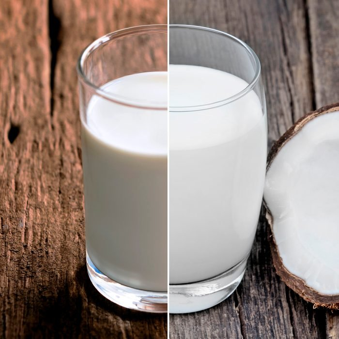 A glass of milk on the wooden table. with copy space for your text.; Shutterstock ID 1129268177; Job (TFH, TOH, RD, BNB, CWM, CM): TOH Coconut milk in a glass on old wood table; Shutterstock ID 1272600736; Job (TFH, TOH, RD, BNB, CWM, CM): TOH