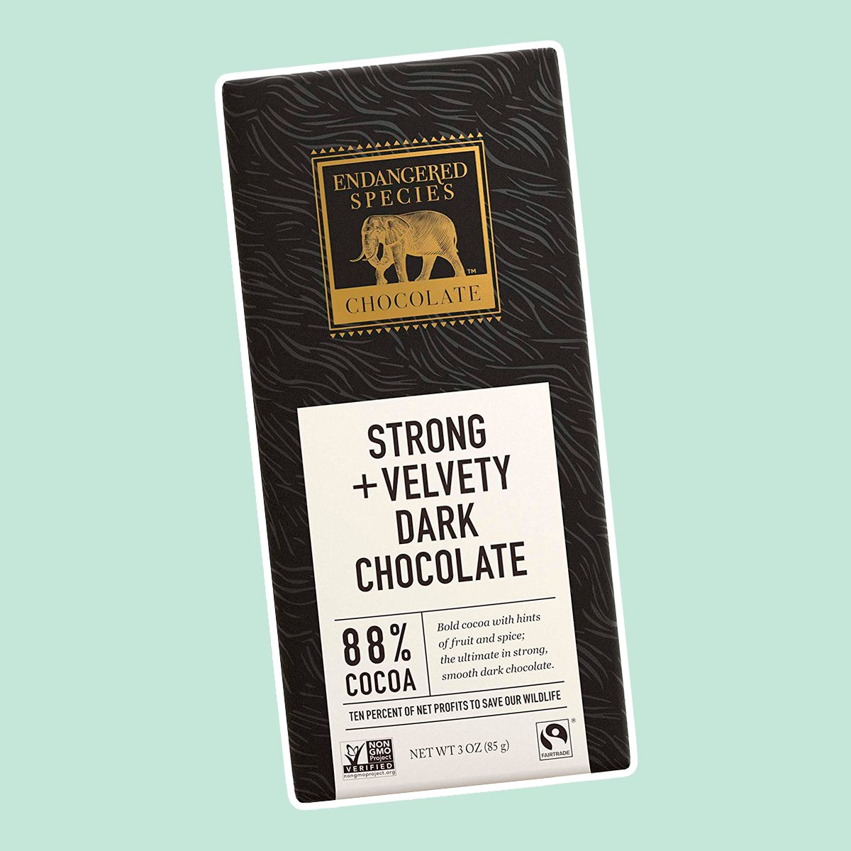 Endangered Species Panther, Fair Trade Dark Chocolate Bar, 88% Cocoa