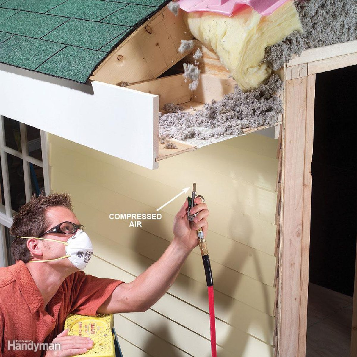 Display of how to clean Soffit Vents