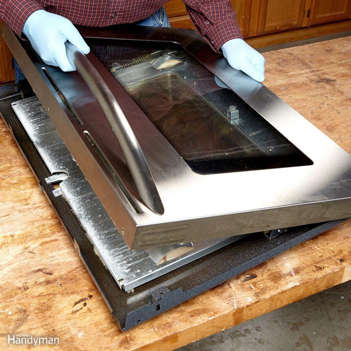 assembling oven door