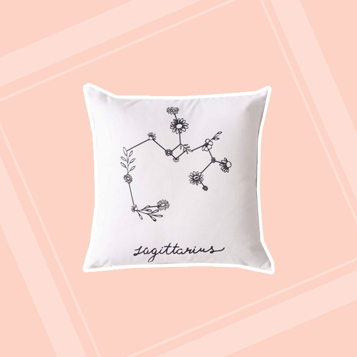 Floral Constellation Throw Pillow