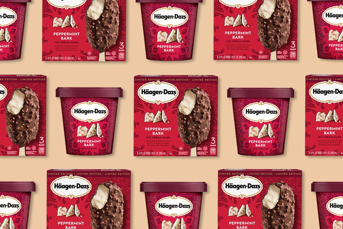 Häagen-Dazs Is Bringing Back Peppermint Bark Ice Cream and We're Counting Down the Days