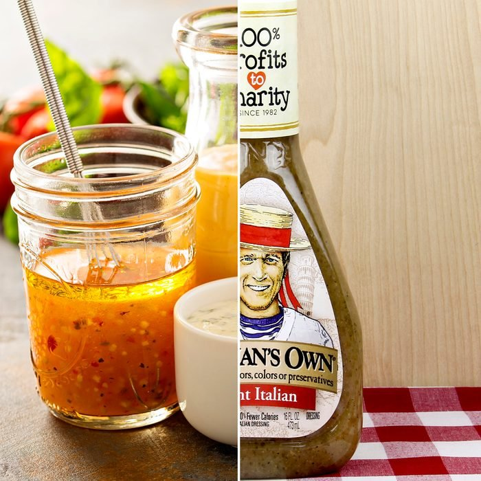 Spencer, Wisconsin, May, 30, 2017 Bottle of Newman's Own Italian Dressing Newman's Own is a food company founded by Paul Newman founded in 1982; Shutterstock ID 650002903; Job (TFH, TOH, RD, BNB, CWM, CM): TOH