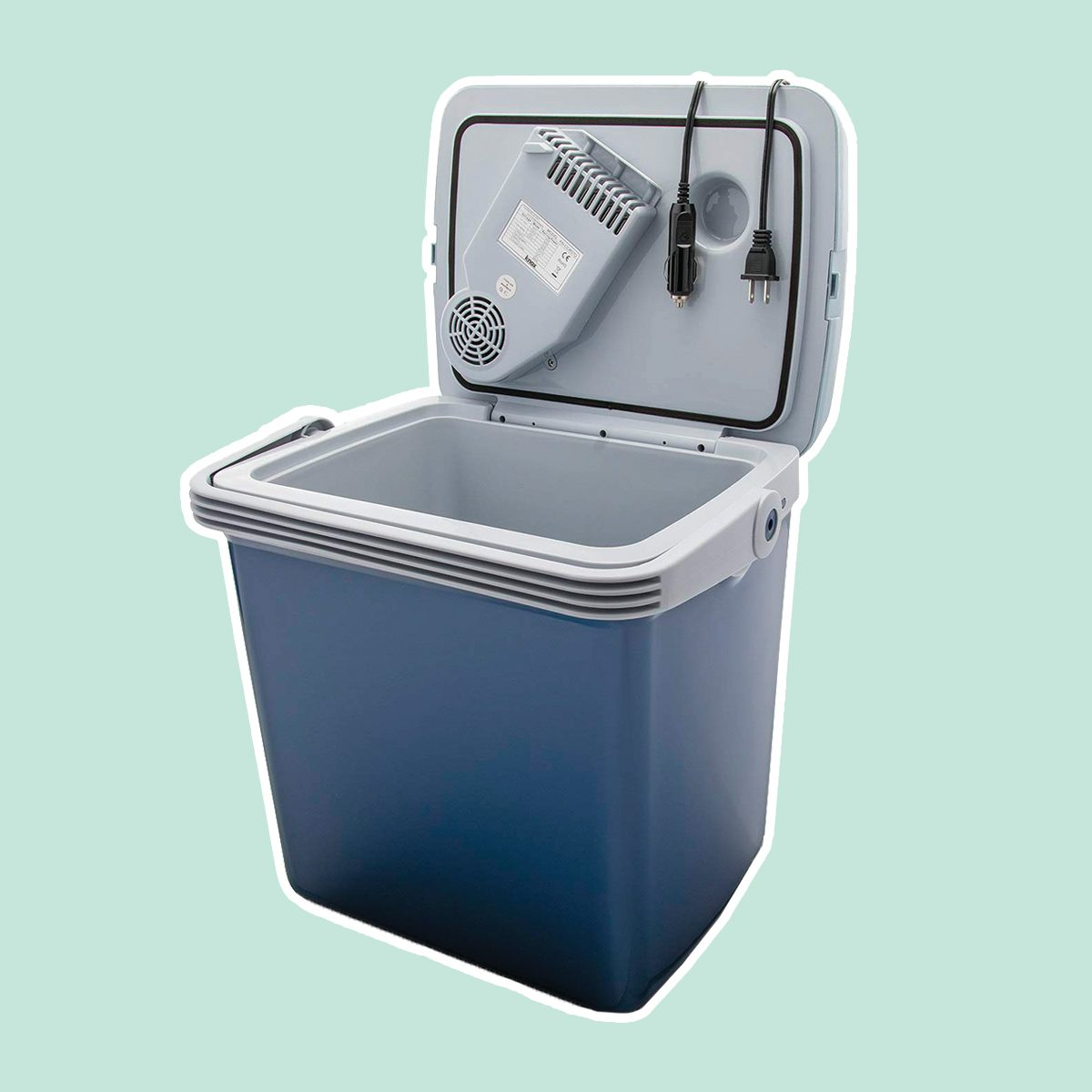 Knox Electric Cooler and Warmer for Car and Home with Automatic Locking Handle