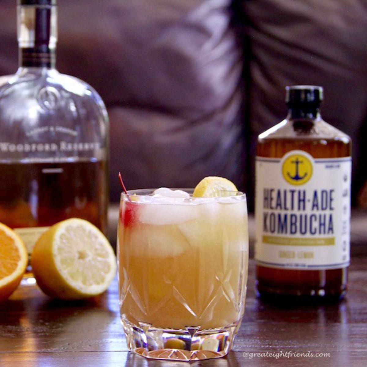 Kombucha Whiskey Sour