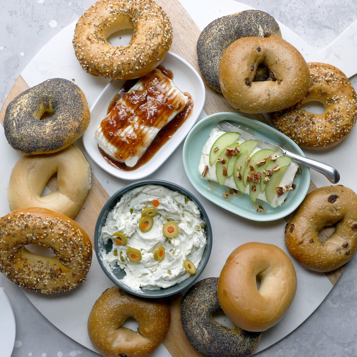 Easy bagel brunch