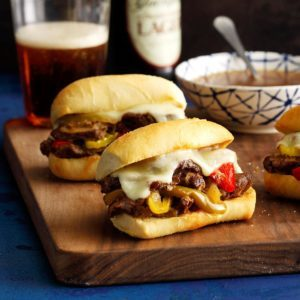 Pressure-Cooker Philly Cheesesteak Sandwiches