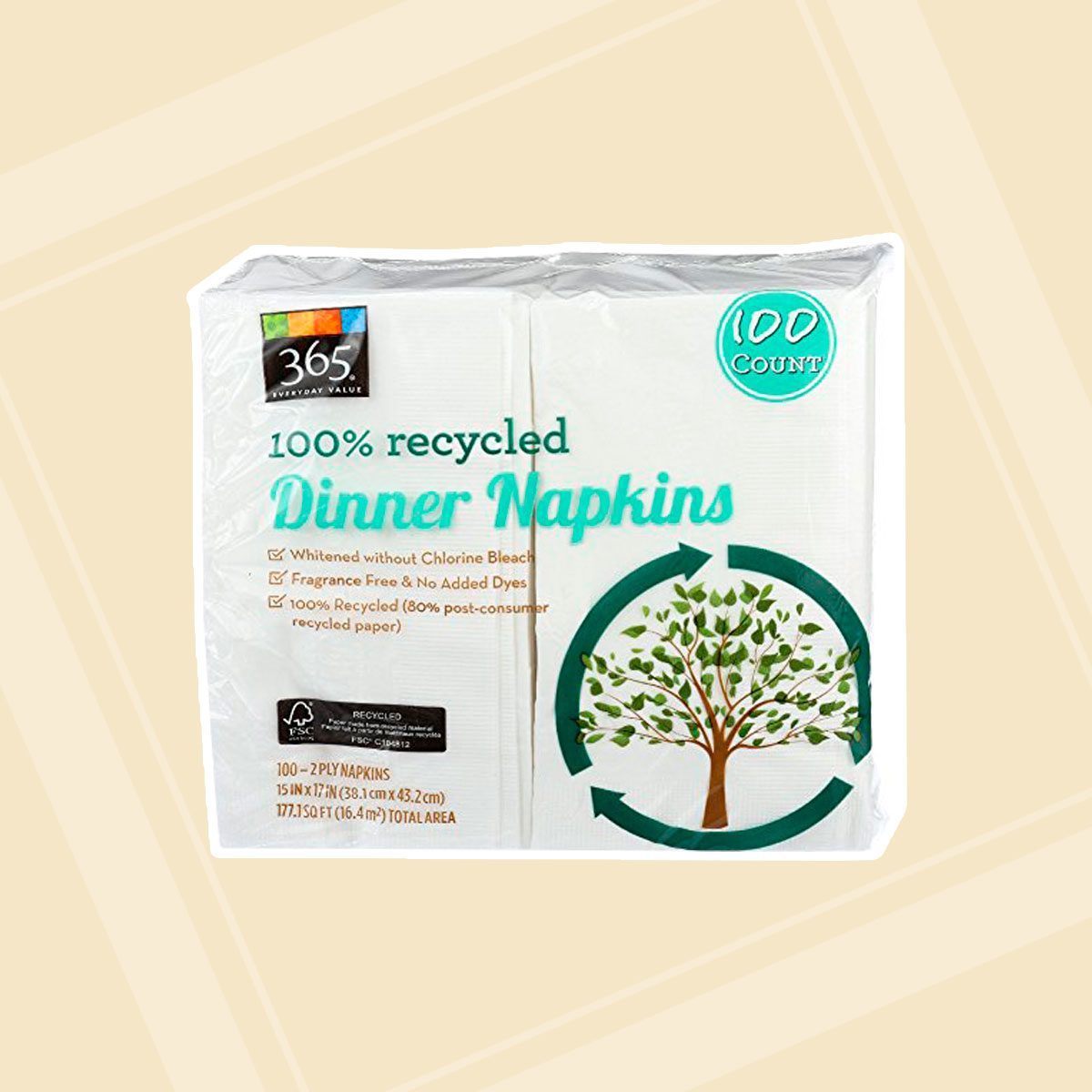 Recycled Dinner Napkins
