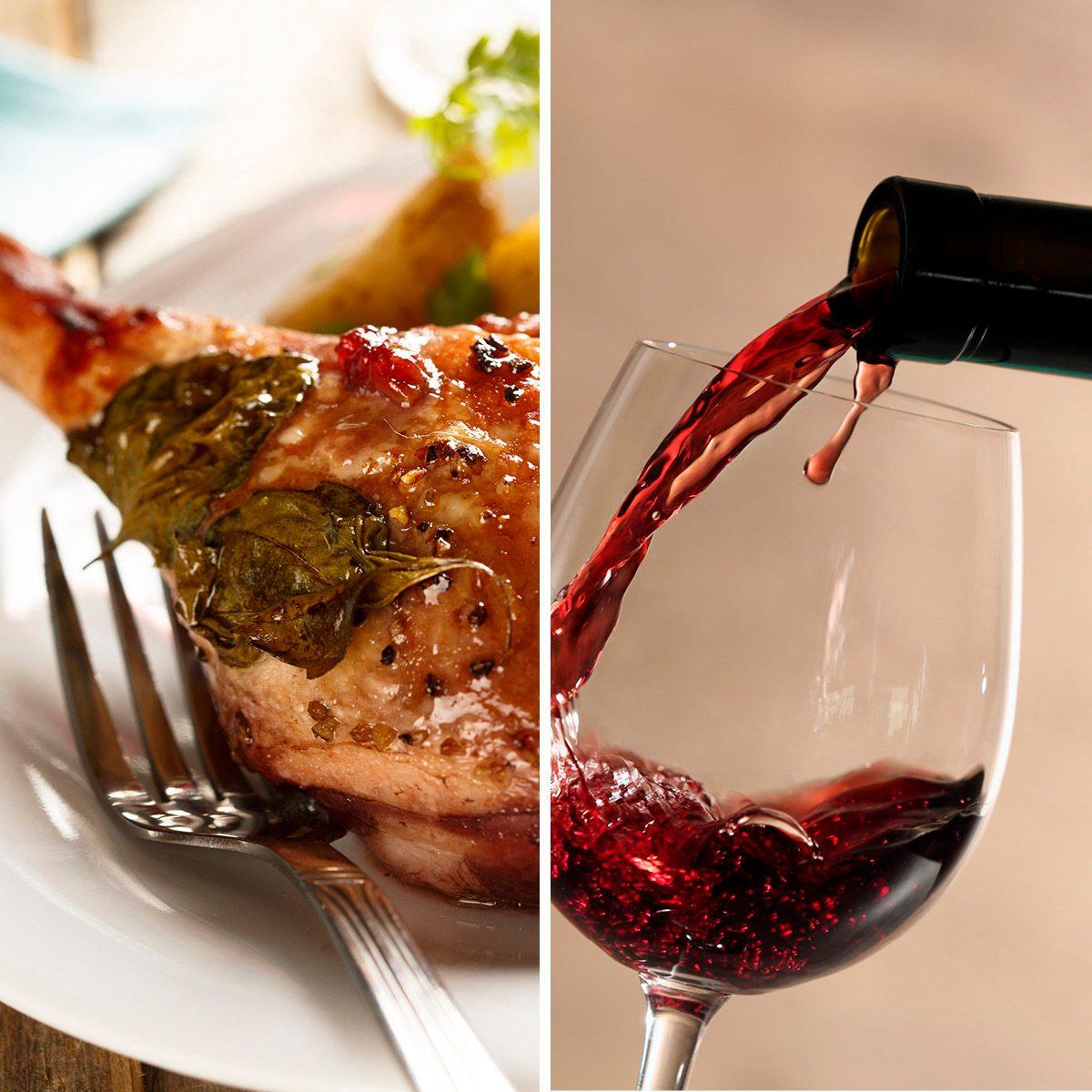 Duck leg, stewed with red wine; Shutterstock ID 303088073; Job (TFH, TOH, RD, BNB, CWM, CM): TOH