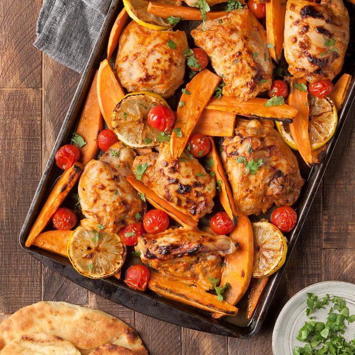 January 13: Sheet Pan Tandoori Chicken