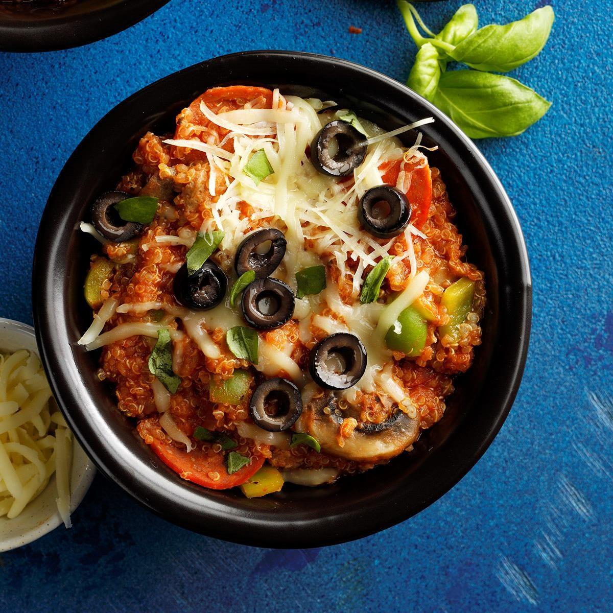Saturday: Pizza Quinoa Casserole