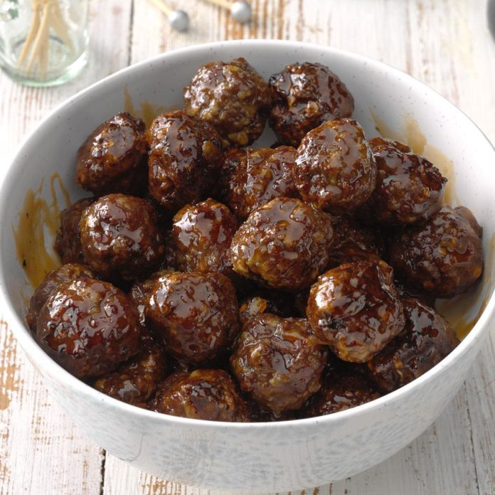Sweet and Spicy Air-Fryer Meatballs