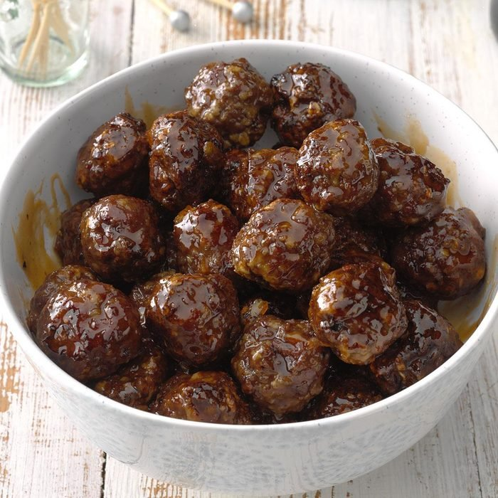 Sweet and Spicy Air Fryer Meatballs