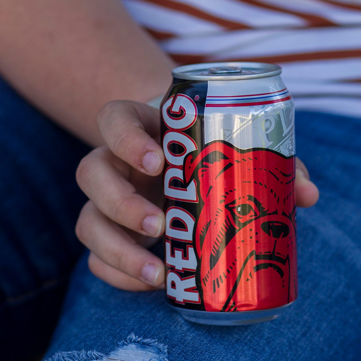 Can of Red Dog beer