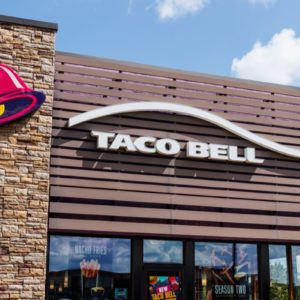 Taco Bell Retail Fast Food Location. Taco Bell is a Subsidiary of Yum! Brands II