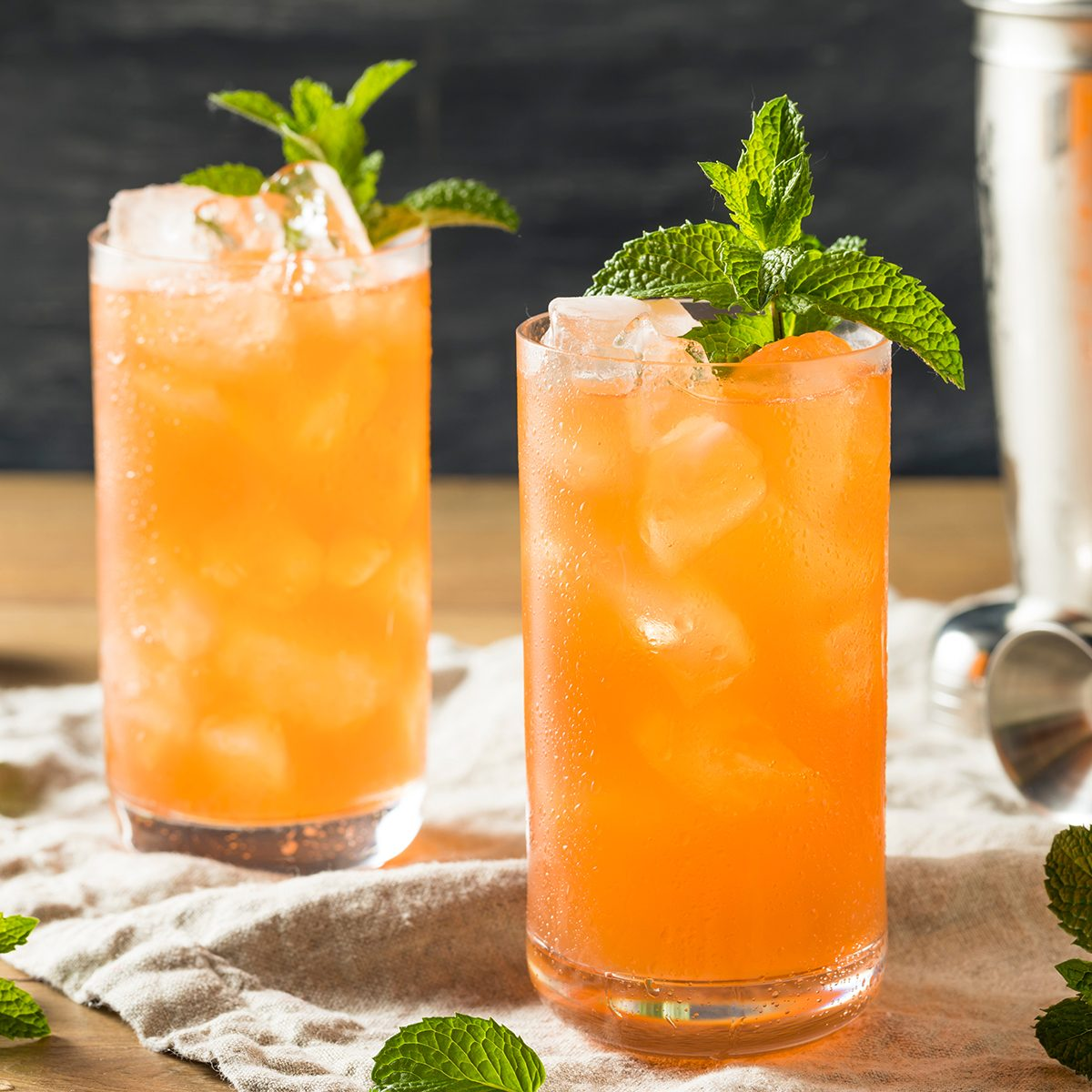 Sweet Tropical Zombie Cocktail with Rum and Mint