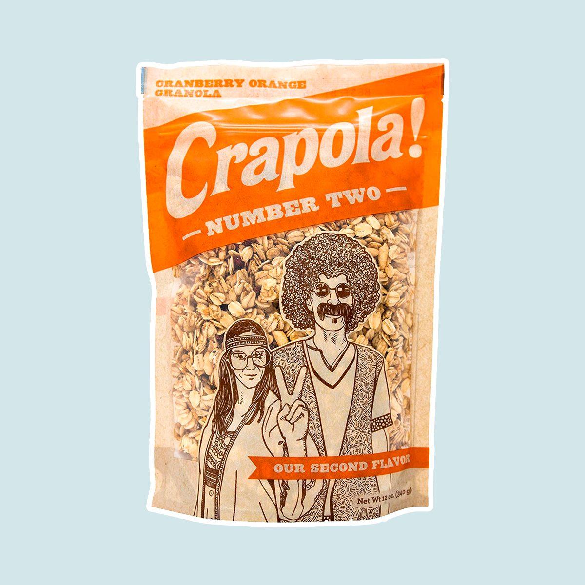 Crapola #2 Cranberry Orange Granola Cereal - All Natural, Healthy Breakfast or Snack - 12 oz Bag