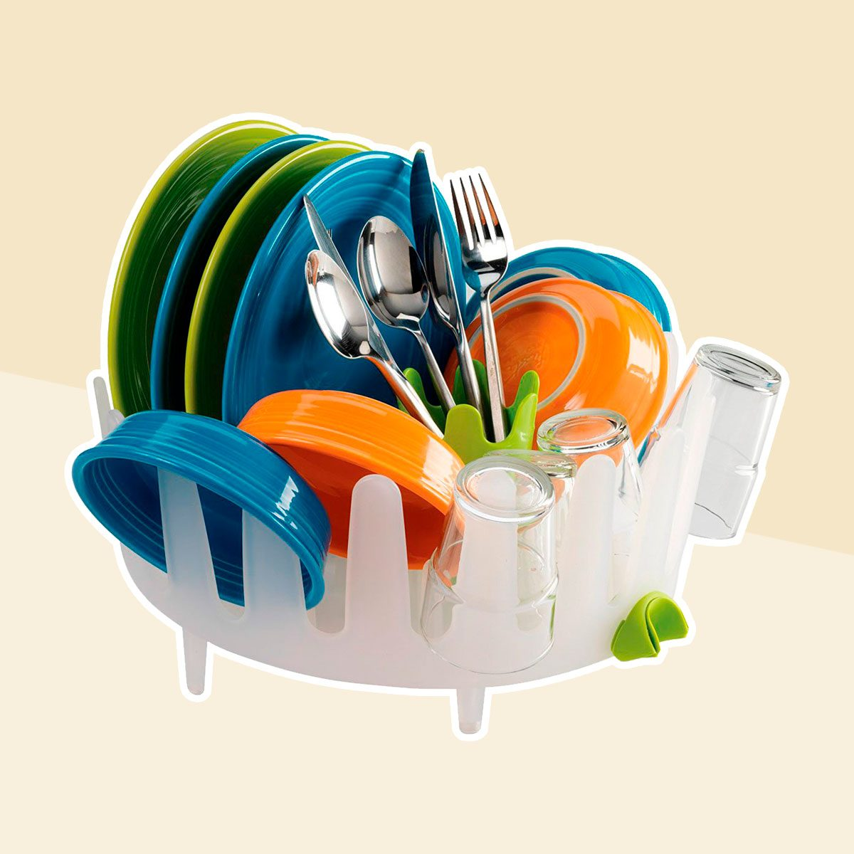 Plastic drying rack for cups