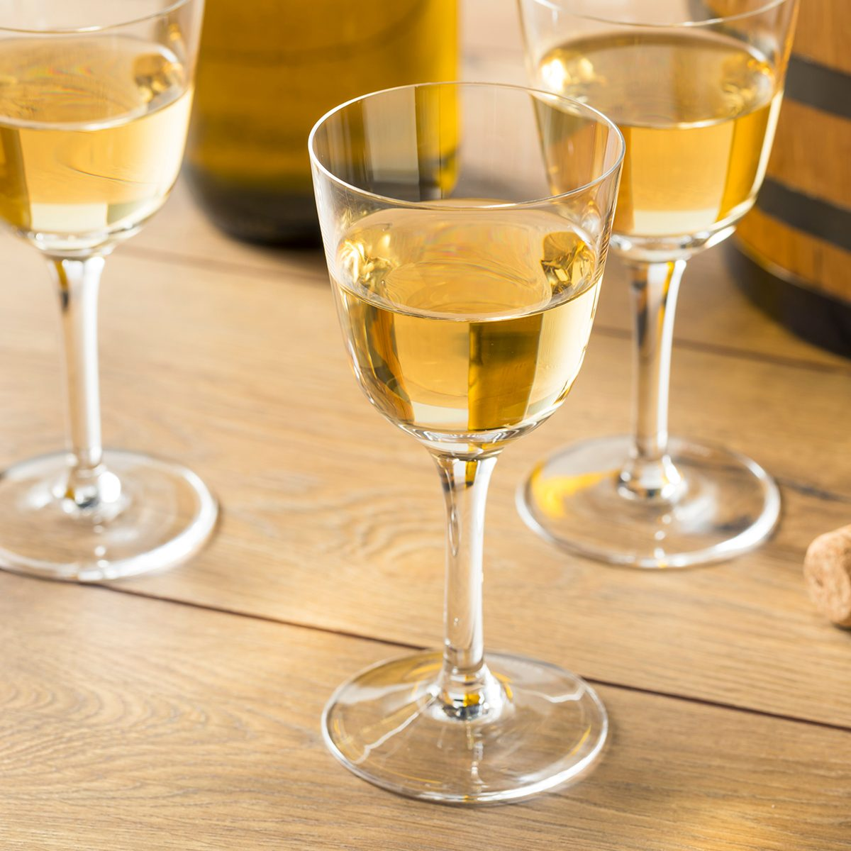 Dry French Sherry Dessert Wine in a Glass