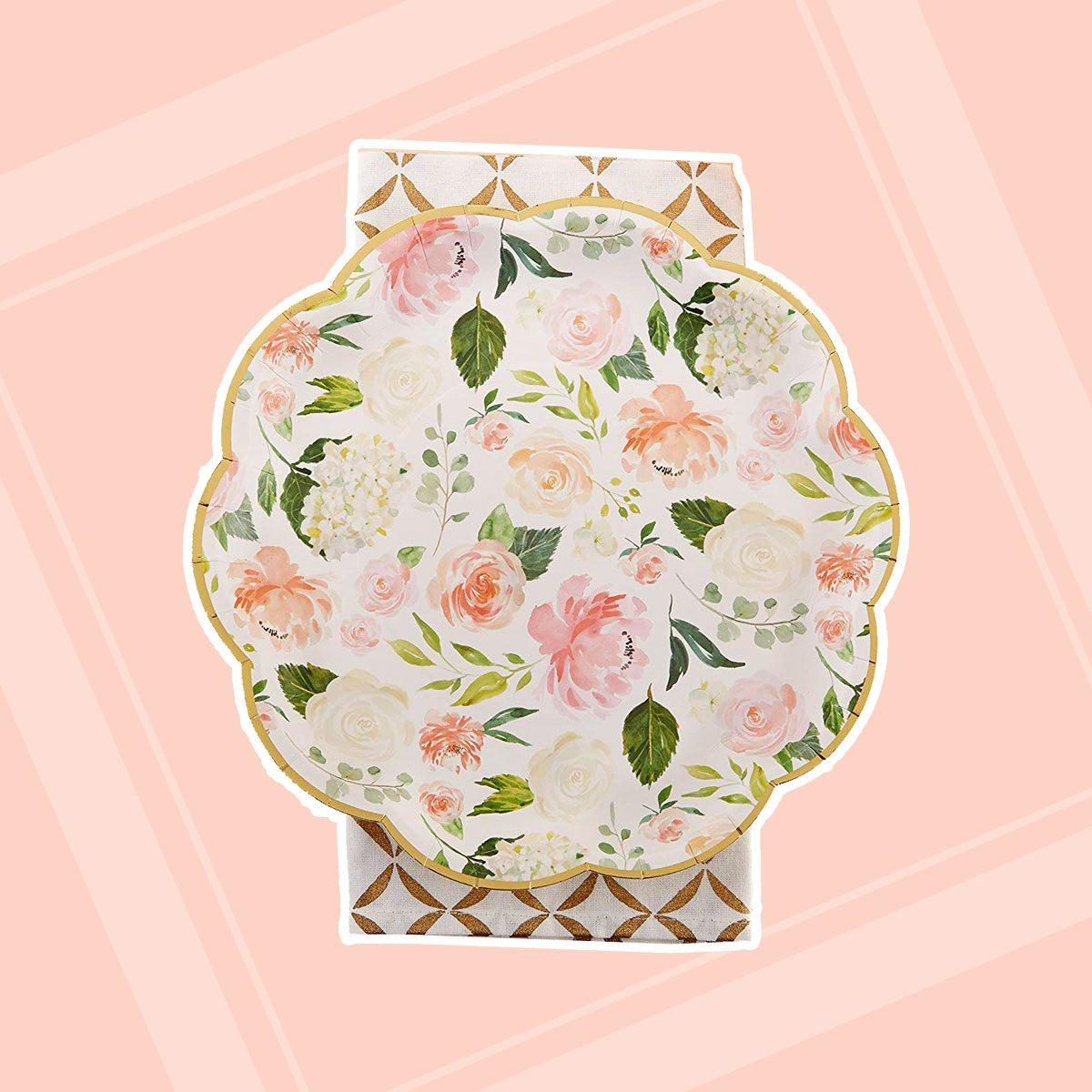 Floral Paper Plates