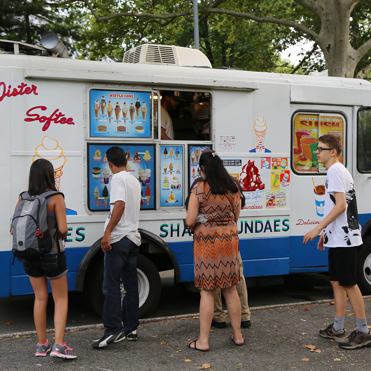 Ice cream truck in Queens. Mister Softee is a United States-based ice cream truck franchiser popular in the Northeast founded in 1956