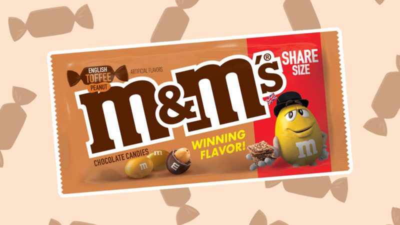 m&ms, english toffee