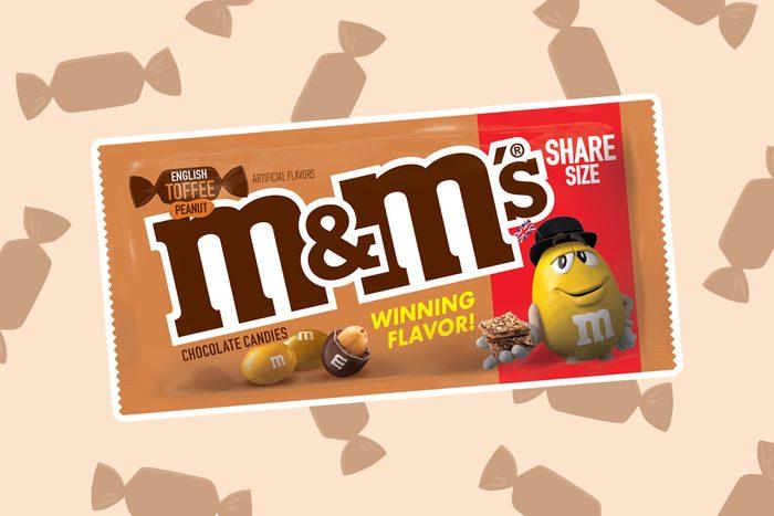 m&ms, english toffee