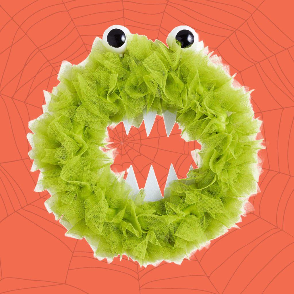 monster tulle wreath