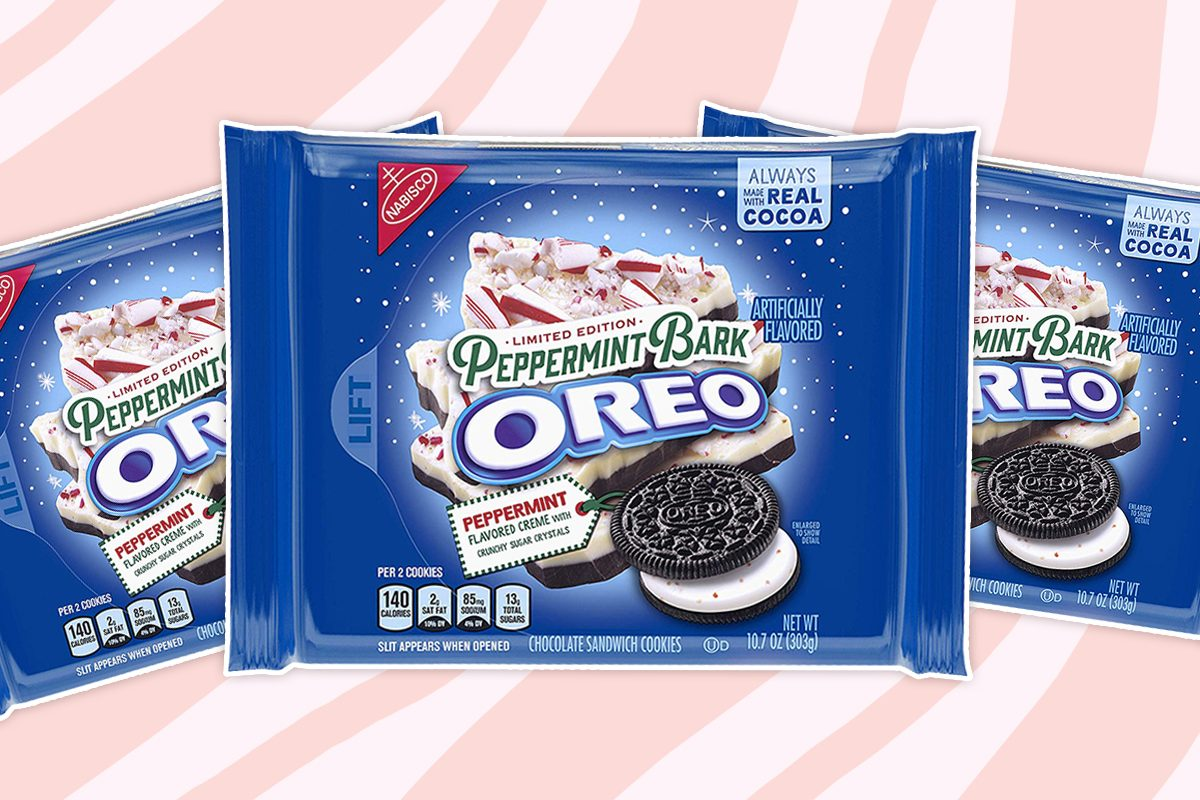 Peppermint Bark Oreos Are at the Top of Our Wish List This Christmas