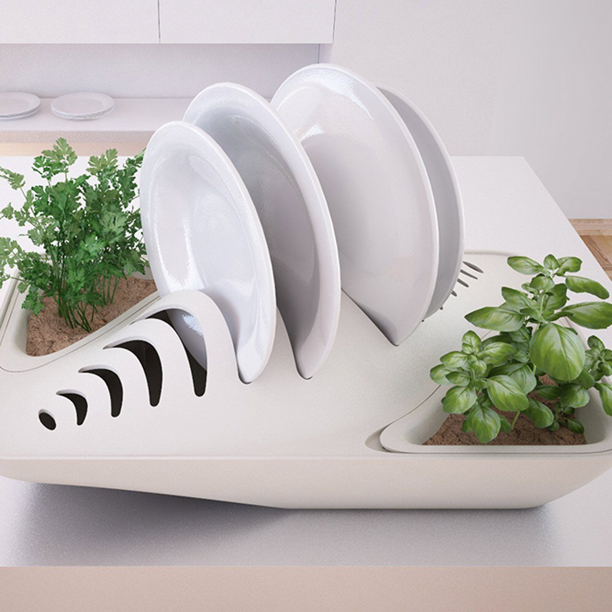 Herb Garden Dish Drying Rack