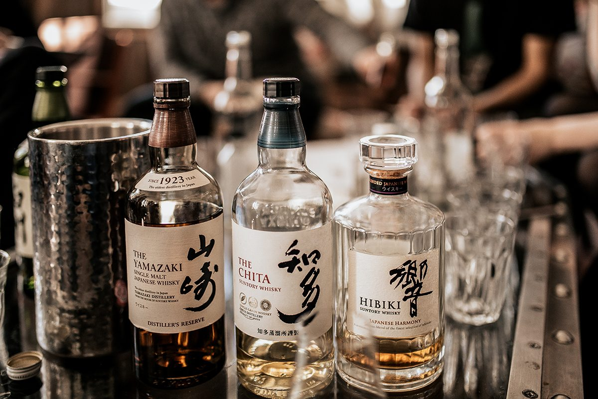 London, UK. 14.03.19 A line up of Japanese whisky bottles, The Yamazaki, The Chita and Hibiki. Concept of fine spirit, whisky and lifestyle. Degustation and master class.; Shutterstock ID 1377629453; Job (TFH, TOH, RD, BNB, CWM, CM): Taste of Home