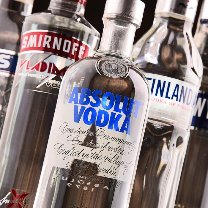 POZNAN, POLAND - MAY 31, 2017: Vodka is the world's largest internationally traded spirit with the estimated sale of about 500 million nine-liter cases a year.; Shutterstock ID 653237011