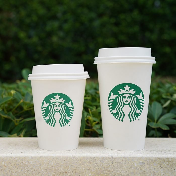 Bangkok Thailand: Starbucks Hot Coffee Cups Beverage Tall size and Grande size