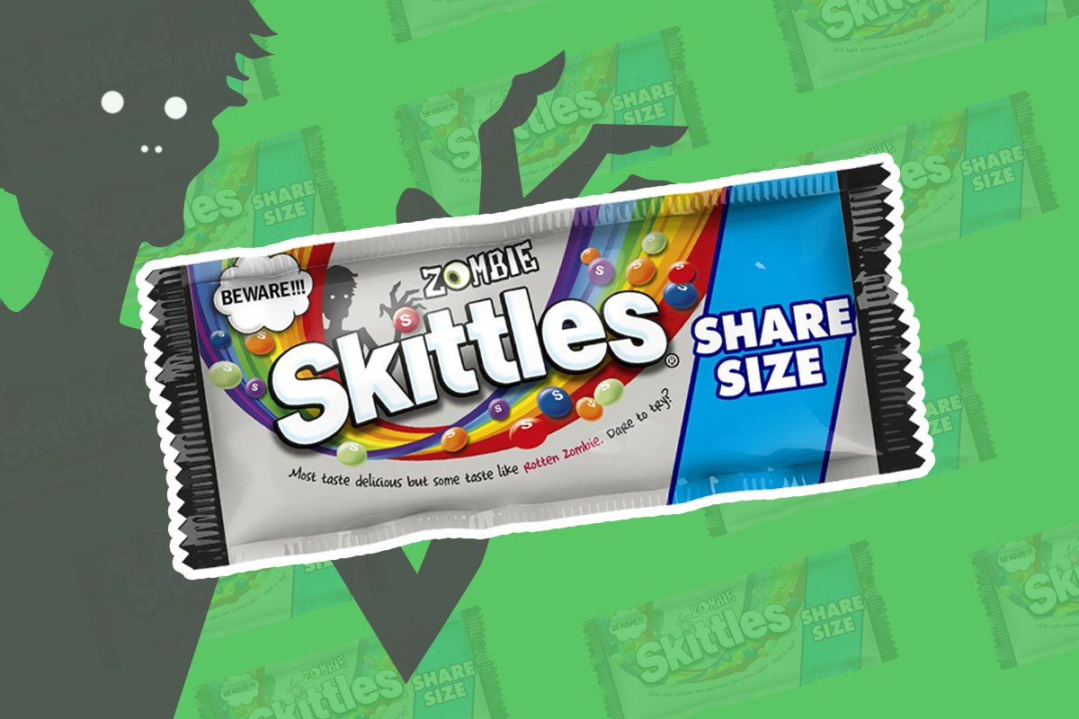 """We Tried the New Skittles Flavor """"Rotten Zombie"""""""
